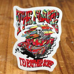 ステッカー スケートボード 車 アメリカン スカル スノーボード バイク ヘルメット かっこいい フレイク FLAKE It's Rather Surf メール便OK_SC-FLS005-ACT|planfirst