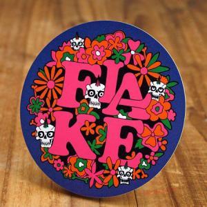 ステッカー スケートボード 車 アメリカン スカル スノーボード バイク ヘルメット かっこいい フレイク FLAKE Flower Skull メール便OK_SC-FLS007-ACT|planfirst
