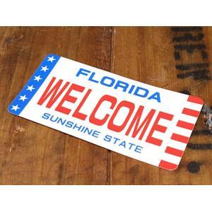 ステッカー ナンバープレート 車 アメリカン おしゃれ バイク ヘルメット かっこいい フロリダ 06 メール便OK_SC-LP06-LFS|planfirst