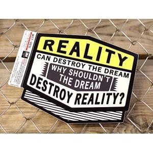 ステッカー 車 アメリカン 世田谷ベース かっこいい 「現実は夢を壊す時がある...」 サイズL メール便OK_SC-MOT001L-SXW|planfirst