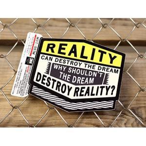 ステッカー 車 アメリカン 世田谷ベース かっこいい 「現実は夢を壊す時がある...」 サイズM メール便OK_SC-MOT001M-SXW|planfirst