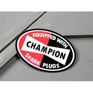 ステッカー チャンピオン CHAMPION バイク 車 アメリカン かっこいい スパークプラグ メール便OK_SC-MS001-FEE|planfirst
