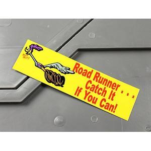 ロードランナー ステッカー ルーニー・テューンズ 車 バイク アメリカン かっこいい Catch It If You Can! メール便OK_SC-MS048-FEE|planfirst