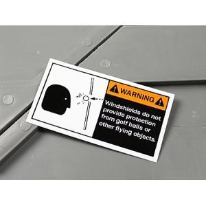 ステッカー ゴルフカート 警告 ゴルフボール 世田谷ベース 車 アメリカン かっこいい WARNING メール便OK_SC-MS072-FEE|planfirst