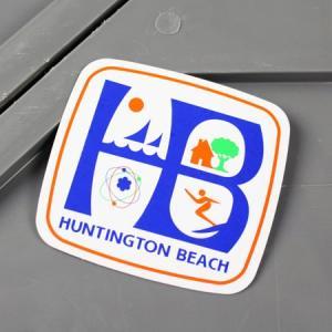 ステッカー 車 アメリカン おしゃれ バイク ヘルメット かっこいい スーツケース アウトドア サーフィン ハンティントンビーチ メール便OK_SC-MS118-FEE|planfirst