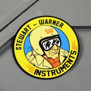 ステッカー 車 スチュワート・ワーナー アメリカン おしゃれ バイク ヘルメット かっこいい STEWART WARNER INSTRUMENTS メール便OK_SC-MS120-FEE|planfirst