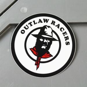 ステッカー アメリカン 車 バイク かっこいい カーステッカー レーシング モーター アウトロー・レーサーズ OUTLAW RACERS メール便OK_SC-MS131-FEE|planfirst