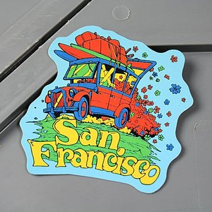 ステッカー オイルショックデザインズ 車 バイク アメリカン かっこいい サーフィン フラワー 花 サンフランシスコ メール便OK_SC-OSS031-ACT|planfirst