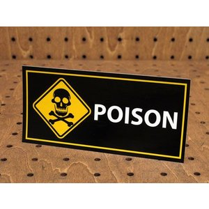 ステッカー アメリカン インテリア サイン 表示 案内 注意 おしゃれ かっこいい 「毒物です」 メール便OK_SC-PS26-LFS|planfirst