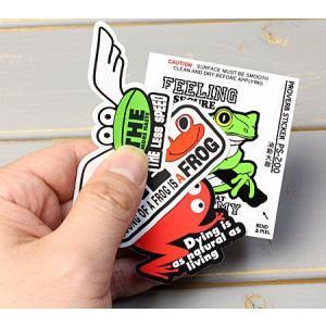 ステッカー 車 1000円 ポッキリ 送料無料 アメリカン アルファベット カエル 4枚セット 03 メール便OK_SC-PS4P03-SXW|planfirst|02