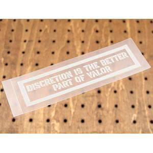 アメリカンミリタリーステンシル転写ステッカー 「逃げるが勝ち」 メール便OK_SC-PST036-SXW|planfirst