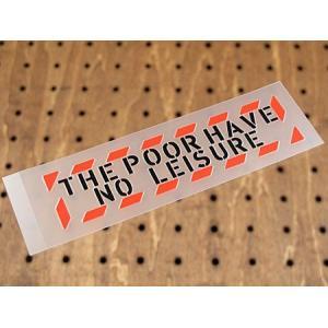 アメリカンミリタリーステンシル転写ステッカー 「貧乏暇なし」 メール便OK_SC-PST037-SXW|planfirst
