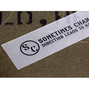 アメリカンミリタリーステンシル転写ステッカー 「幸せへと進むには方向転換してみることも必要です」 メール便OK_SC-PST051-SXW|planfirst