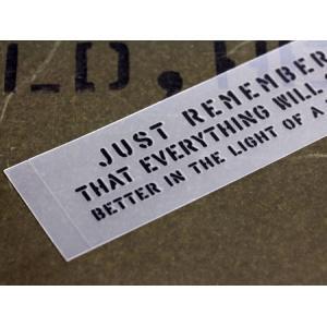 アメリカンミリタリーステンシル転写ステッカー 「明日になればどんなことも大丈夫だって思えるよ」 メール便OK_SC-PST053-SXW|planfirst