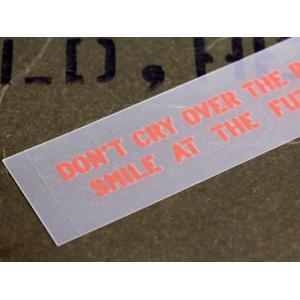アメリカンミリタリーステンシル転写ステッカー 「過去を振り返って嘆くのではなく未来に向かって微笑もう」 メール便OK_SC-PST054-SXW|planfirst