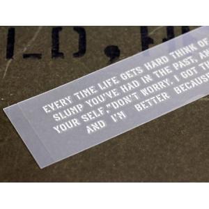ステッカー 車 アメリカンミリタリーステンシル転写ステッカー 「人生に行き詰ったら過去のスランプを思い出そう」 メール便OK_SC-PST055-SXW|planfirst