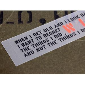 アメリカンミリタリーステンシル転写ステッカー 「やらなかったことを後悔するよりやって後悔したい」 メール便OK_SC-PST056-SXW|planfirst