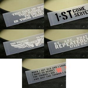 ステッカー 車 ステンシル ステッカー 転写タイプ 2000円 ポッキリ 送料無料 アメリカン ミリタリー 5枚セット 03 メール便OK_SC-PST5P03-SXW|planfirst