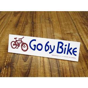 ステッカー バイク 自転車 車 アメリカン おしゃれ ヘルメット かっこいい Go by Bike メール便OK_SC-BS054-GEN|planfirst