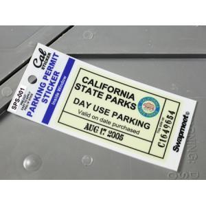 パーキングパーミットステッカー 車 アメリカン 駐車許可 カリフォルニア 裏貼り PARKING PERMIT STICKER カリフォルニア州駐車場 メール便OK_SC-SPS001-HBT|planfirst
