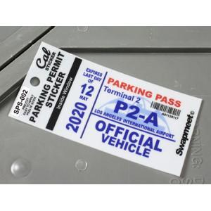 パーキングパーミットステッカー 車 アメリカン 駐車許可 カリフォルニア 裏貼り PARKING PERMIT STICKER ロサンゼルス国際空港 メール便OK_SC-SPS002-HBT|planfirst
