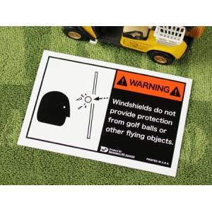 ステッカー 世田谷ベース ゴルフカート 車 アメリカン バイク ヘルメット かっこいい 警告 ゴルフボール WARNING 両面プリント メール便OK_SC-WFD01-SXW|planfirst