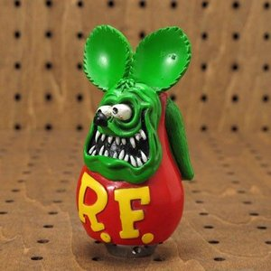 ラットフィンク(Rat Fink) フィギュアシフトノブ グリーン_SF-RAF397GR-MON|planfirst