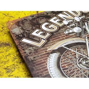 看板 サインプレート サインボード アメリカン ガレージ バイク 男前インテリア LEGENDS NEVER DIE サイズS メール便OK_SP-016-FEE|planfirst|02