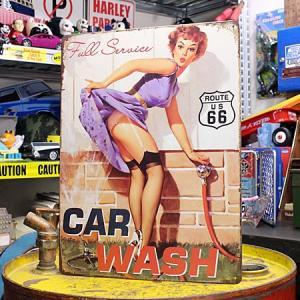アメリカンインテリアプレート ピンナップガール CAR WASH サイズM_SP-Z8377-FEE|planfirst