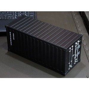 海上コンテナ型ミニマルチ収納ボックス マットブラック_SR-007-FEE|planfirst