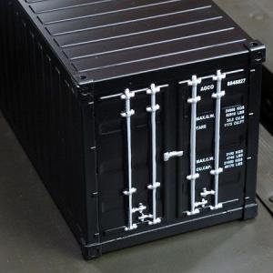 海上コンテナ型ミニマルチ収納ボックス マットブラック_SR-007-FEE|planfirst|02