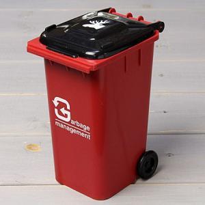 ゴミ箱型 小物入れ 貯金箱 ペンスタンド レッド_SR-HFT248-ACT|planfirst