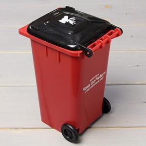 ゴミ箱型 小物入れ 貯金箱 ペンスタンド レッド_SR-HFT248-ACT|planfirst|02