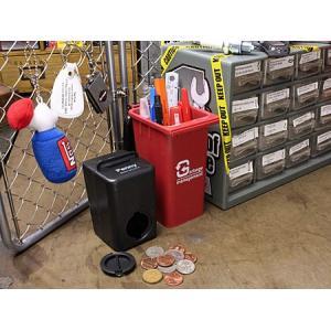 ゴミ箱型 小物入れ 貯金箱 ペンスタンド レッド_SR-HFT248-ACT|planfirst|04
