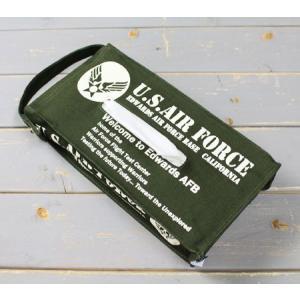 US AIR FORCE ティッシュケース ミリタリー 壁掛け おしゃれ 車 縦 コットン製 世田谷ベース アメリカ空軍 アメリカン雑貨 メール便OK_TC-81767-FEE