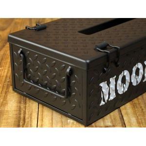 ムーンアイズ ティッシュケース MOONEYES チェッカープレート ブラック_TC-MG660BK-MON|planfirst|02
