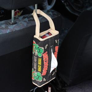 ラットフィンク ティッシュケース 壁掛け おしゃれ 車 縦 ティッシュカバー キャラクター Rat Fink アメリカン雑貨 ブラック メール便OK_TC-RAF503BK-MON planfirst