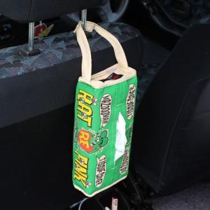 ラットフィンク ティッシュケース 壁掛け おしゃれ 車 縦 ティッシュカバー キャラクター Rat Fink アメリカン雑貨 グリーン メール便OK_TC-RAF503GR-MON planfirst