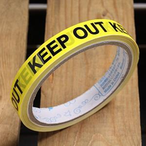 KEEP OUT(立入禁止) 粘着テープ 15mm幅 メール便OK_TP-004-HYS|planfirst