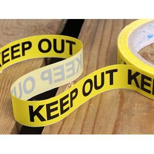 KEEP OUT(立入禁止) 粘着テープ 15mm幅 メール便OK_TP-004-HYS|planfirst|02