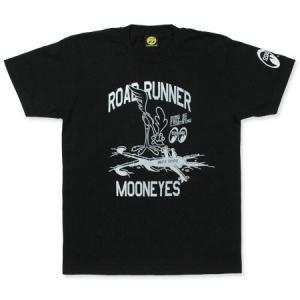 ロードランナー Tシャツ アメカジ メンズ レディース キャラクター ルーニー・テューンズ 半袖 Runs Fast ブラック メール便OK_TS-RRT023BK-MON|planfirst