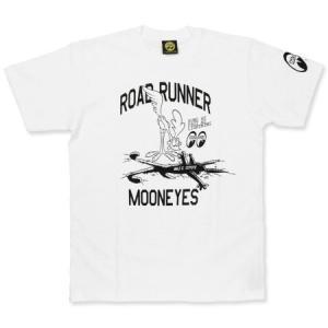 ロードランナー Tシャツ アメカジ メンズ レディース キャラクター ルーニー・テューンズ 半袖 Runs Fast ホワイト メール便OK_TS-RRT023WH-MON|planfirst