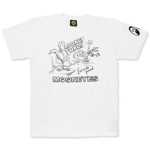 ロードランナー Tシャツ アメカジ メンズ レディース キャラクター ルーニー・テューンズ 半袖 Fall To The Ground ホワイト メール便OK_TS-RRT024WH-MON|planfirst