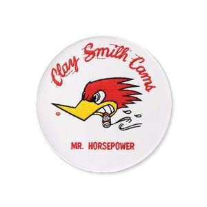 クレイスミス ワッペン キャラクター アメリカ ウッドペッカー バイク アメカジ ジャケット アメリカン雑貨 Clay Smith Mr.Hosepower ラウンド ホワイト planfirst