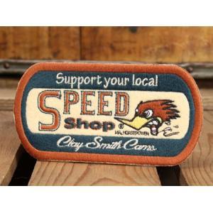 クレイスミス ワッペン Clay Smith SPEED SHOP [アイロン/アメリカ] メール便OK_WP-CSYC132-MON|planfirst