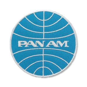 パンナム ワッペン アイロン おしゃれ かっこいい アメカジ PAN AM アメリカン 航空会社 パンアメリカン航空 アメリカン雑貨 ラウンド メール便OK_WP-PAE1-LFS planfirst