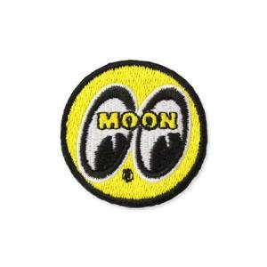 ムーンアイズ ワッペン アイロン アメカジ ジャケット トートバッグ ホットロッド MOONEYES アイボール イエロー アメリカ アメリカン雑貨 直径4cm planfirst