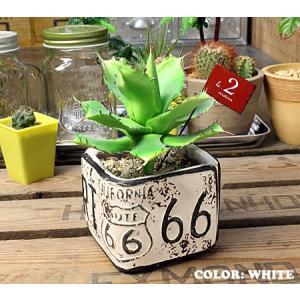 プランター 植木鉢 アメリカン アンティーク調 ルート66 ROUTE66 ミニスクエア ブルー_ZZ-NC515BL-FEE|planfirst|04