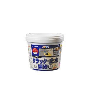 アサヒペン ASAHIPEN コンクリート クラック・止水補修材 C001 グレー 1kg(500g × 2)の画像