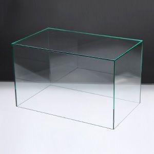 アクリルケースA/コレクションケース/フィギュアケース/ディスプレイケース/5面体/土台無/ガラスエッジ W30cm/D18cm/H18.3cm|plasart